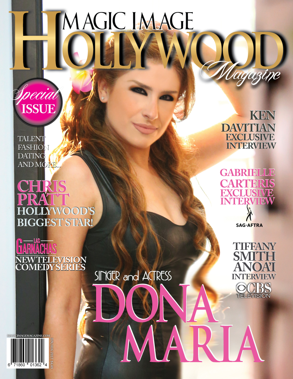 Dona Maria on Hollywood cover magazine