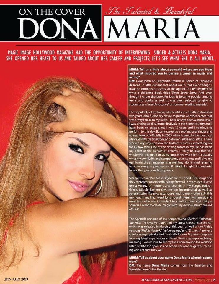 Magic Imge Hollywood Featuring Dona Maria on the cover