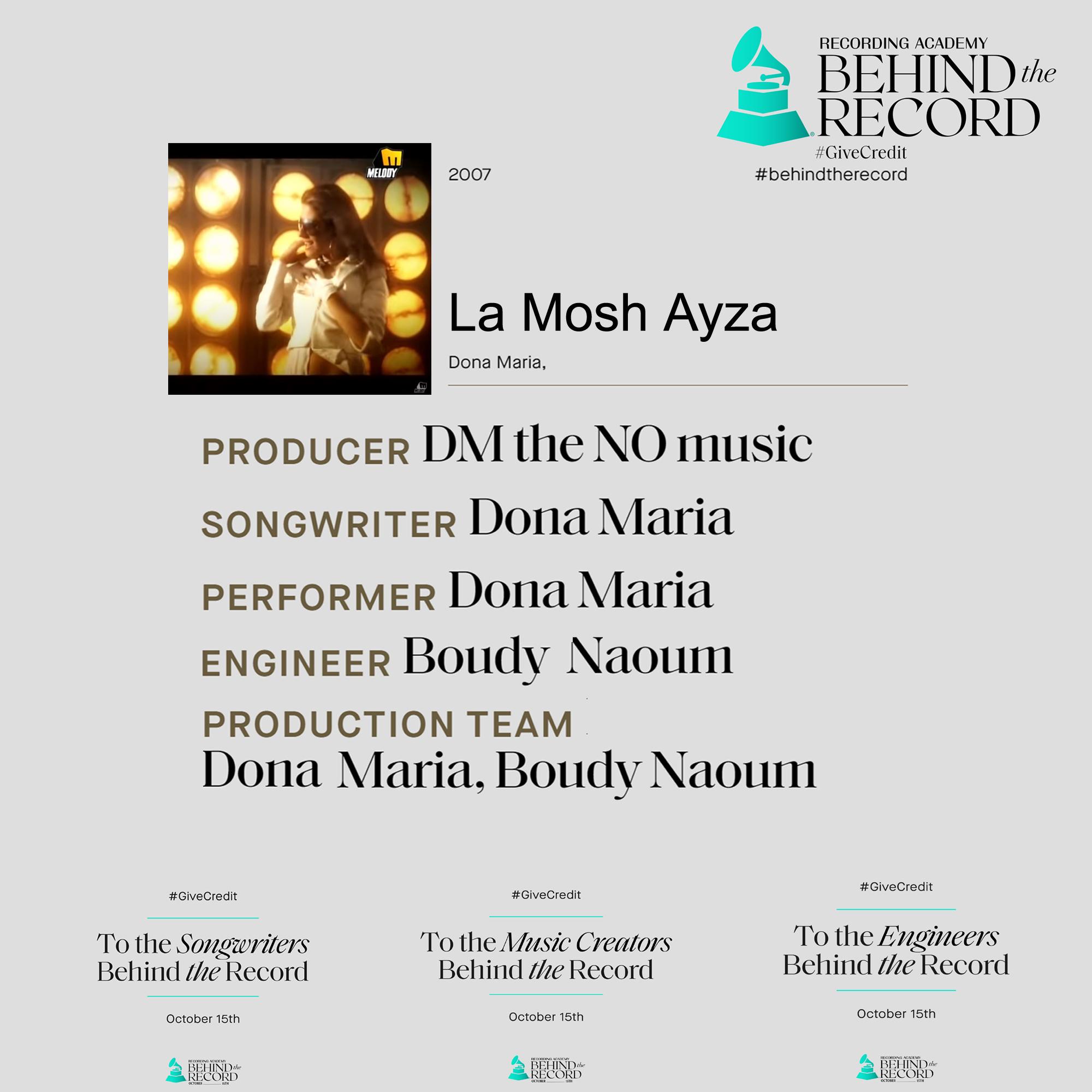 Behind the 1rst Record of mine La mosh Ayza