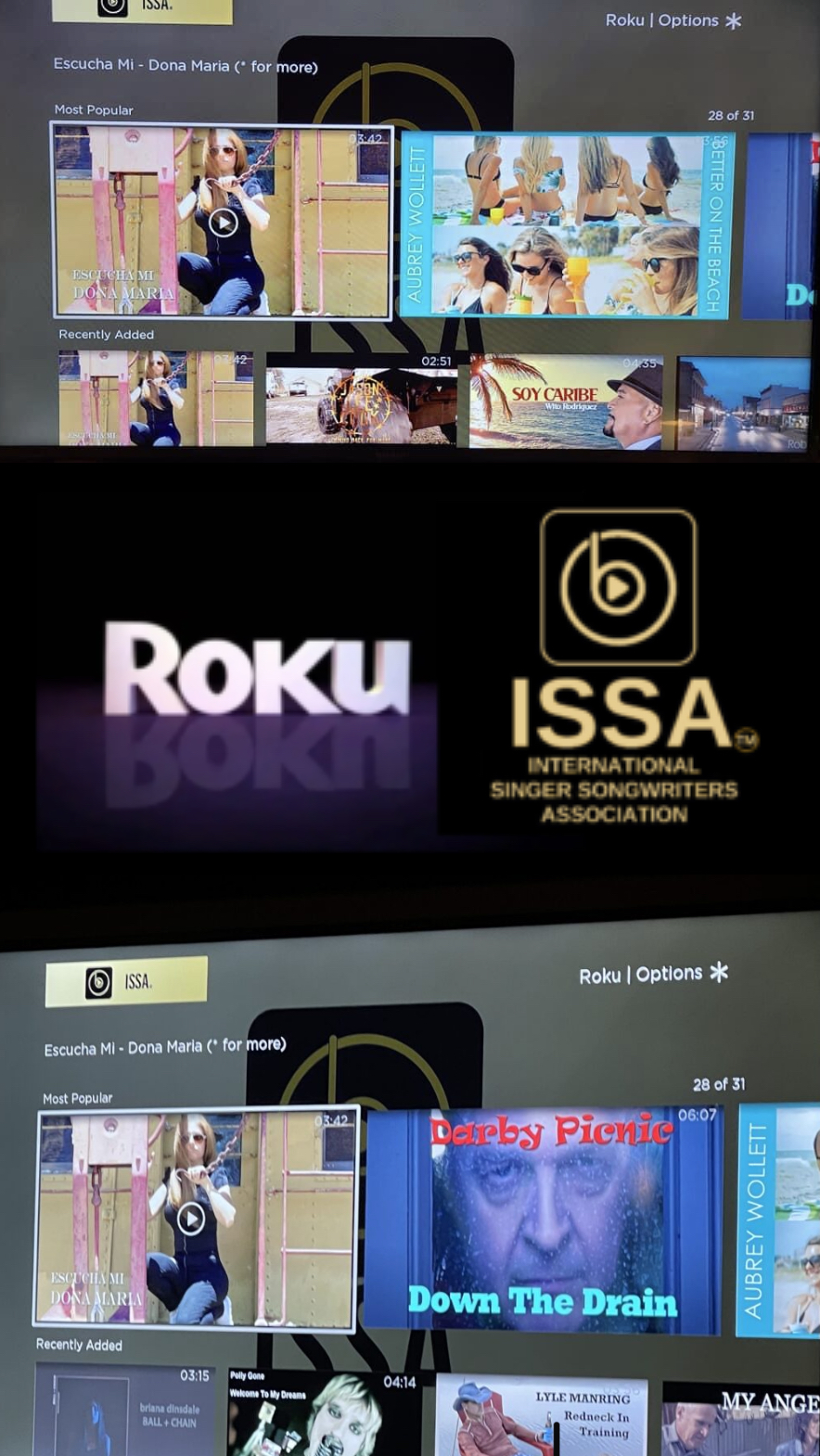 Roku ISSA MUSUC CHANNEL