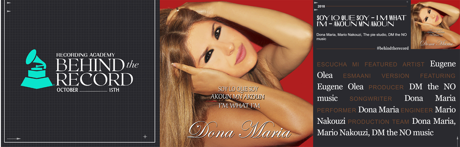 Behind the record by the Grammy recording academy - Dona Maria giving credits